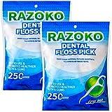 Palillos de hilo dental, sin sabor, desechables, paquete de 500 unidades