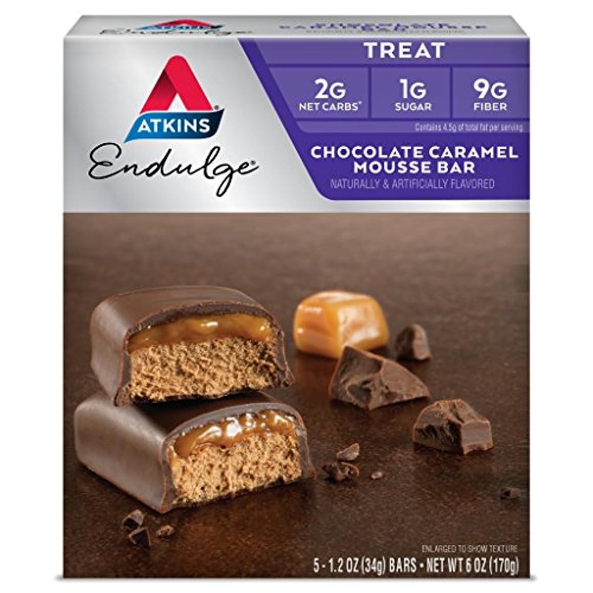 Atkins Endulge Treat, Chocolate Caramel Mousse Bar, Keto Friendly, 5 Count