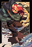 """Kimetsu no Yaiba: Demon Slayer Anime,Matte Cover , Journal/Notebook for Writing, Gift, School & Office, College Ruled Size """"6 x 9"""", 120 Pages"""