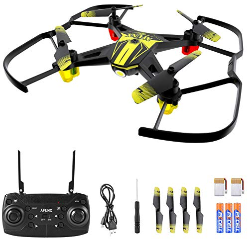 Price comparison product image AFUNX Drones for Kids and Beginners,  Mini Drone with LED Lights,  Altitude Hold,  Headless Mode,  One Key Takeoff / Landing,  3 Speed Modes,  3D Flips and Extra Batteries,  Kids Drone Toys for Boys and Girls