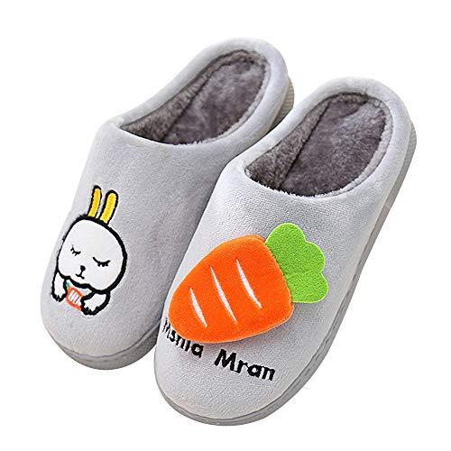 Zapatos Invierno Zapatillas de Estar por Casa para Niña Niños 28/29 EU (Tamaño de la Etiqueta 220) Gris