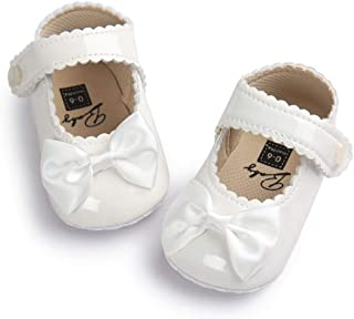 Baby Girls Mary Jane Princess Crib Soft Sole Bowknot Shoes 0-18 Months