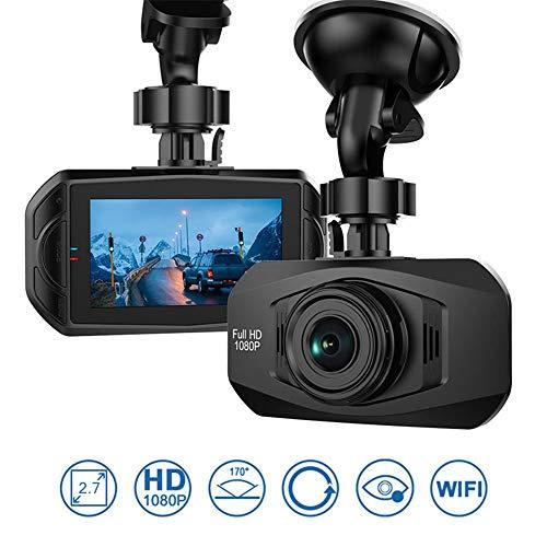 Caméra de tableau de bord voiture Dash Cam 1080p FHD, enregistreur vidéo de conduite DVR, capteur Sony, objectif 6 éléments, vue grand angle 170 °, capteur G et vision nocturne