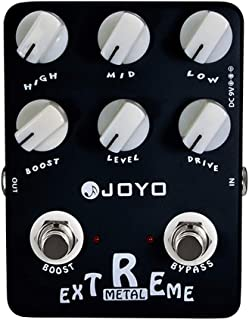 JOYO JF-17 Extreme Metal Pedal, Distortion Pedal Effect, High Gain Effect, for Electric Guitar & Bass, True Bypass