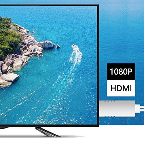 Téléphone vers HDMI Cable,Ozvavzk 3 en 1 Flash USB Type C vers HDMI Adaptateur de HD TV 1080p AV Numérique Lighting vers HDMI Câble pour Samsung,Phone,Pad Pod Touch