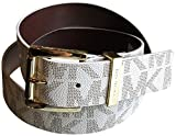 Michael Kors Womens Gold Buckle Vanilla Belt Medium
