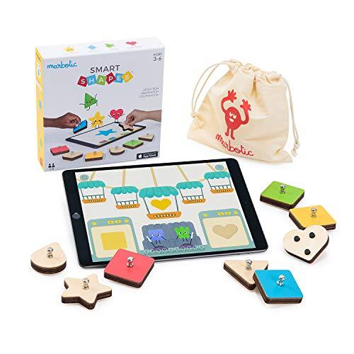 Marbotic - Smart Shapes för iPad - Åldrar 3+ - Interaktiva träformer och färger - Praktiska flerspelarspel för förskolebarn - Utveckla observations-, deduktions- och kommunikationsfärdigheter