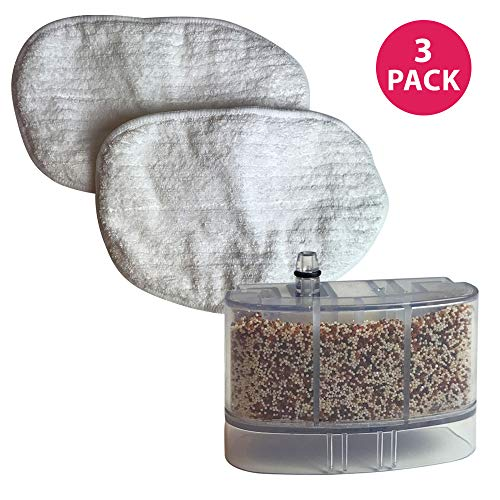 Think Crucial Replacement For Bissell Calcium Filter & Mop Pads Fit Bissell 46B4 39W7 21H6 31N1 1867 1865 Series Vacuum Steam Mops; Compatible With Part # 3255 218-5600 2032158 2185600