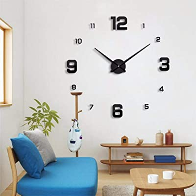 tfqddp 2019 New Wall Clock Modern Design Home Decoration Big Mirror 3D DIY Large Decorative Wall