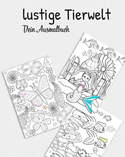 lustige Tierwelt dein Ausmalbuch: vertraue der Magie
