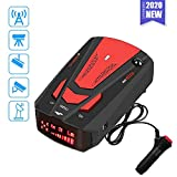 Radar Detector for Cars,Laser Radar Detector,Voice Prompt Speed,Vehicle Speed Alarm System,LED Display,City/Highway Mode,Auto 360 Degree Detection for Cars(Red)