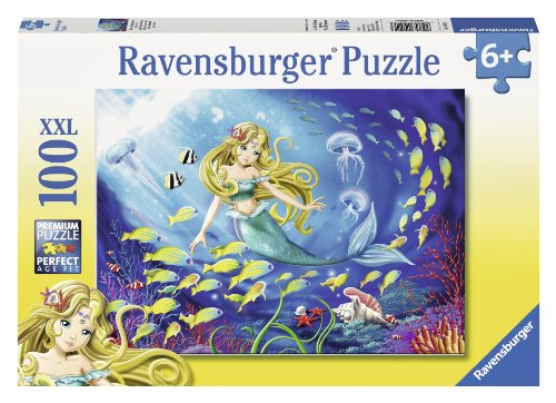 Ravensburger Little Mermaid 100 Piece Jigsaw Puzzle for Kids – Every Piece is Unique, Pieces Fit Together Perfectly