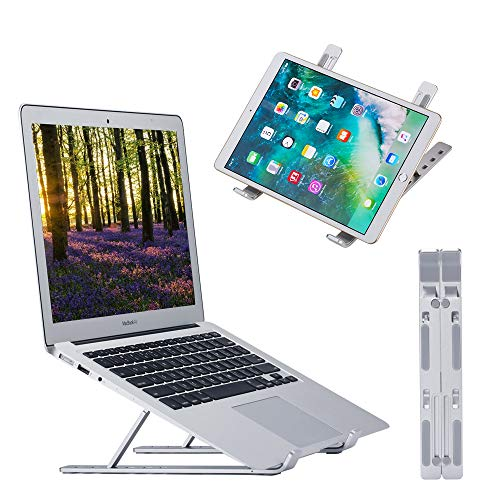 "Laptop Stand,Ergonomic Laptop Holder Riser Computer Stand,Portable Laptop Stand,Adjustable Aluminum Laptop Stand Compatible with MacBook Air Pro, Lenovo, Dell, More 10-15.6"" Laptops"
