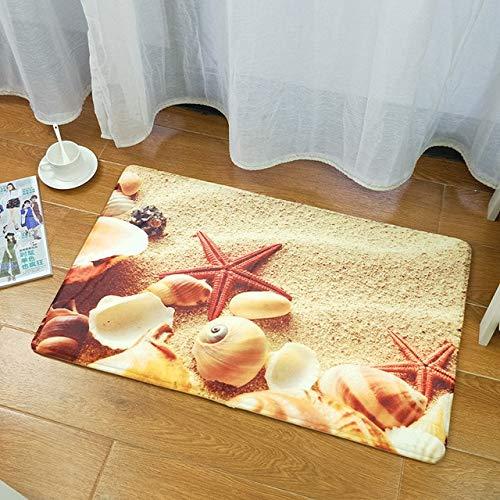Alfombras de baño de estilo mediterráneo devarios tamañosJuego de alfombrillas de baño Espesar Alfombras de piso de baño impresas en 3D Alfombras de inodoro Felpudo de inodoro - 0509,60X90cm 1 pieza