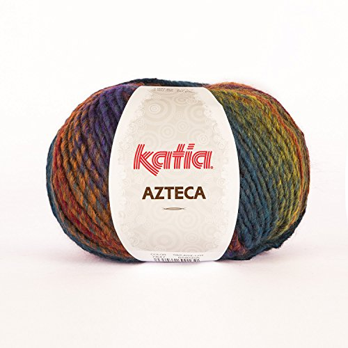 Katia Azteca 7847 rot blau meliert 100g