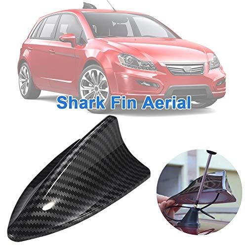 Shark Auto Hai Dach Stab Antenne Fuß Sockel Universal Radio FM AM Set Schwarz, Shark Antenne Auto AM&FM Radio Dachantenne Haifisch Haifischflosse Autoantenne Mit Verstärker ABS