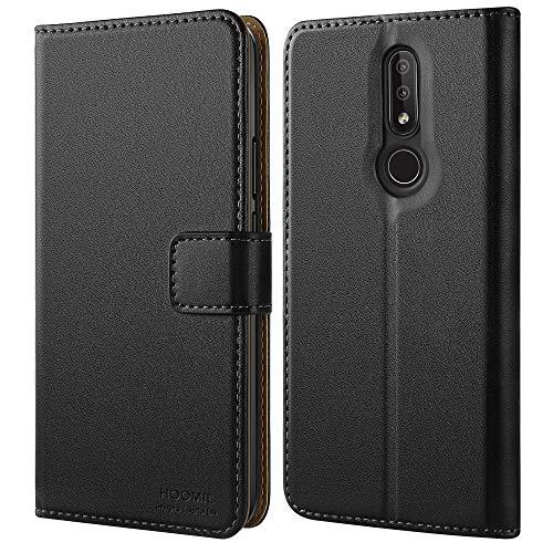 HOOMIL Handyhülle für Nokia 4.2 Hülle, Premium PU Leder Flip Schutzhülle für Nokia 4.2 Tasche, Schwarz