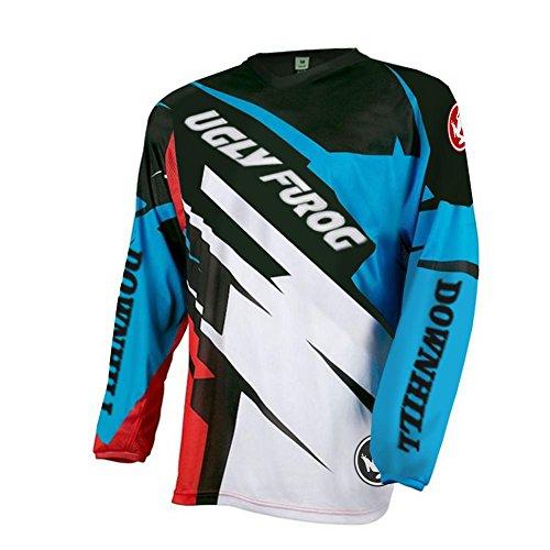 UGLY FROG Element FR Langarm Jersey MTB DH Rot Grau Mountain Bike Moto Cross Downhill Shirt