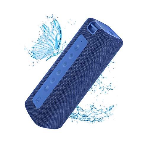 Xiaomi mi Tragbarer Bluetooth-Lautsprecher, drahtloser Lautsprecher, Bluetooth, 16 W, IPX7 im Freien Wasserdicht, TWS, 13 Stunden Spielzeit, Eingebautes Mikrofon, Staubdicht (blau)