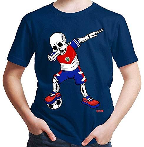 Hariz – Camiseta de fútbol, Dab Skelett Costa Rica, equipación de equipación con tarjetas de regalo azul marino 12 años
