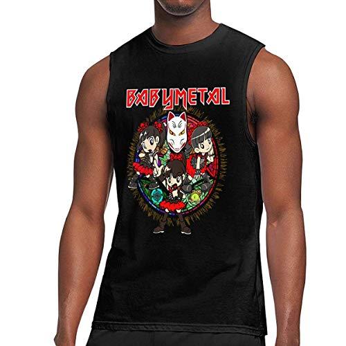WLQP Camiseta sin Mangas para Hombre Babymetal T Shirts Men