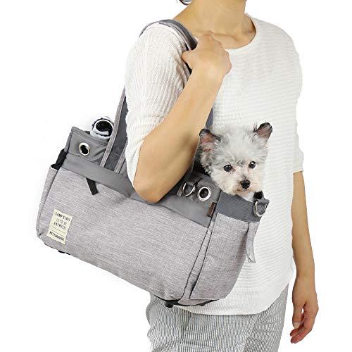 ペットパラダイス BOX キャリー バッグ 灰 【小型犬】手持ち 肩がけ お出かけ 旅行