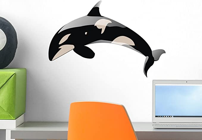 Wallmonkeys Orca Killer Whale Wall Decal Peel And Stick Graphic 36 In W X 24 In H Wm115886 Furniture Decor