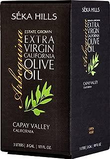 Seka Hills Premium Extra Virgin California Olive Oil 3 Ltr (101 Fl. Oz.) Bag in Box