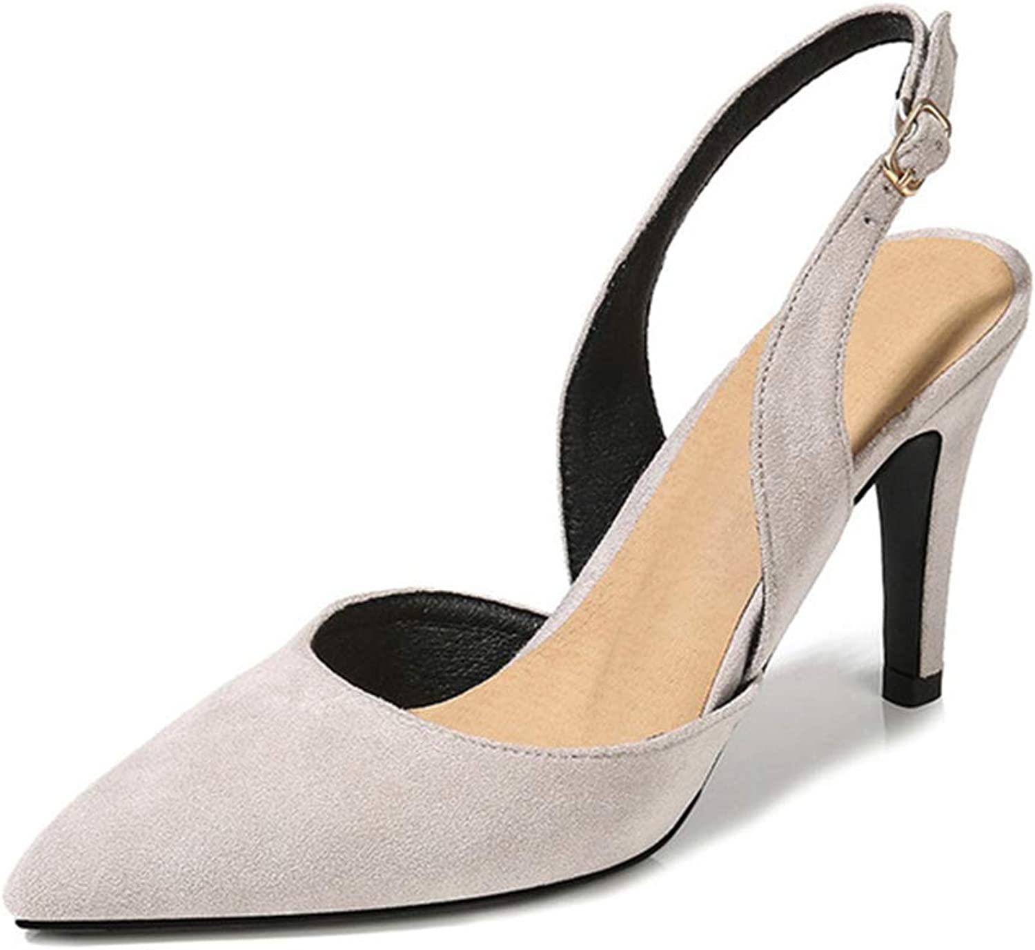 Kyle Walsh Pa Women Pumps shoes Slip-on Pointed Toe Stiletto Ladies Suede Casual Sandals