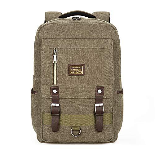 Canvas Laptop Backpack, Vintage Canvas Rucksack Now $14.49