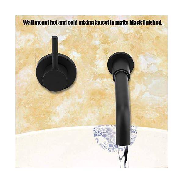 Ausla – Grifo monomando para lavabo de baño, montado en la pared, grifo mezclador para bañera con boquilla mezcladora…