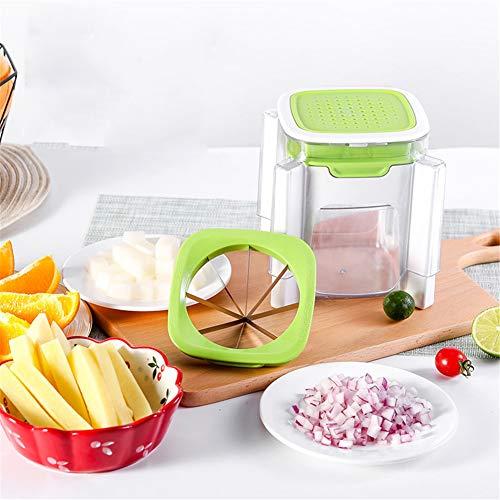 Xbnmw Fruit Cutterb pour Fruits de Pommes de Terre, Ensemble d'outils ménagers multifonctionnels, trancheur de Fruits en Acier Inoxydable