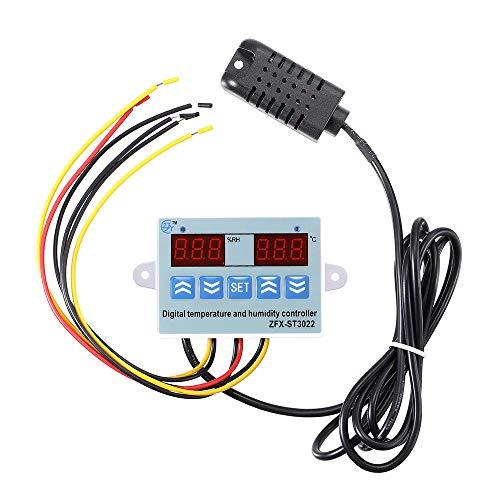 JOMOSIN BVCC313 ZFX-ST3022 LED Digital doble termómetro controlador de temperatura termostato incubadora microordenador (color: 24 V)