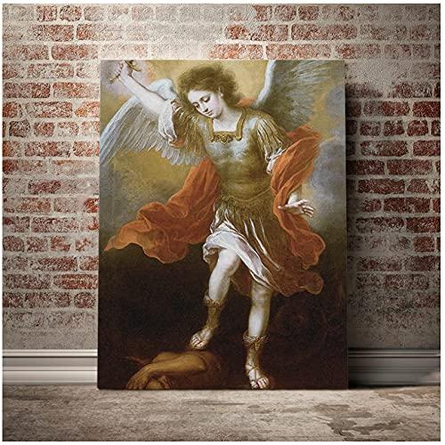 HD decoración del hogar lienzo pared arte pintura Michael Devil Abyss imágenes retrato póster para sala de estar-24x36 pulgadas sin marco