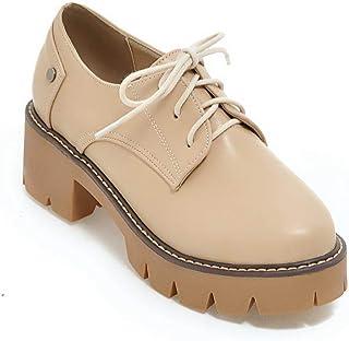BalaMasa Womens APL11841 Pu Block Heels