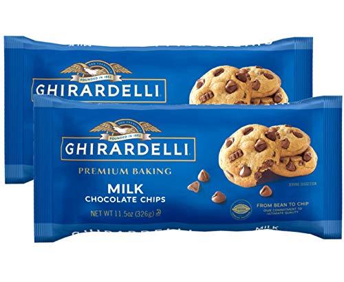 Ghirardelli Milk Chocolate Baking Chips 11.5 oz. (Pack of 2)