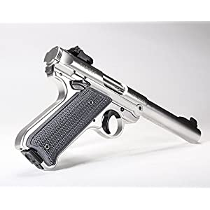 Pachmayr 61076 G-10 Tactical Pistol Grips, Ruger Mark Iv, Gray/Black, Checkered