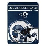 NFL Los Angeles Rams 46x60 Micro Raschel Run Design RolledBlanket, Team Colors, One Size