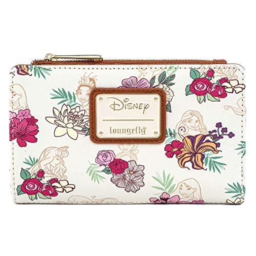 Loungefly Disney Princesses Portefeuille en Simili Cuir Motif Floral