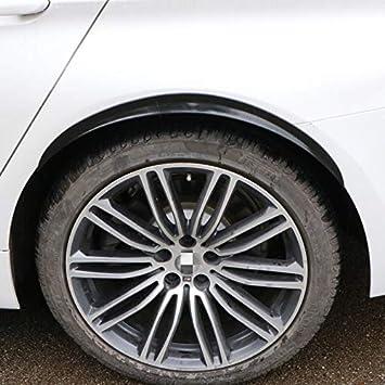 Cobeky Universal Car Wheel Eyebrow Arch Trim Lips Flare Protector Carbon Fiber 4Pcs 32cm