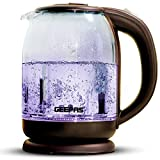 Geepas 1500W Illuminating Glass Kettle | Boil Dry Protection & Auto Shut Off | Fast Boil & Easy to Clean | Ideal for Hot Water, Tea or Coffee | 1.8L Cordless Kettle | 2 Years Warranty