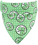 <span class='highlight'><span class='highlight'>Huangzhiping</span></span> St. Patricks Day Dog Bandanas Dog Collars Too Cute to Pinch Screen Design for Medium to Large Sized Dogs(H01)