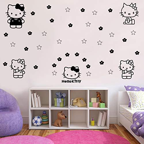 Imprinted Designs Calcomanía de Pared con diseño de Hello Kitty Impreso, 7 Pulgadas a 9 Pulgadas Cada uno