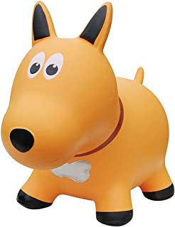 Farm Hoppers Award Winning Inflatable Toddler Safe Bouncing Yellow Dog Plus Pump