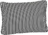 beo LKR 60x40 BE807 - Cuscino per Schienale, a Strisce scandinave, per mobili da Giardino in Rattan, 60 x 40 cm, Bianco e Blu