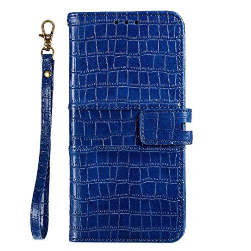 Hoesje voor Samsung Galaxy S9 Plus Wallet Book Case, Magneet Flip Wallet Slim Beschermende Telefoonhoes met Kaarthouders slots Robuuste schokbestendige Bookcase voor Samsung Galaxy S9 Plus Blauw