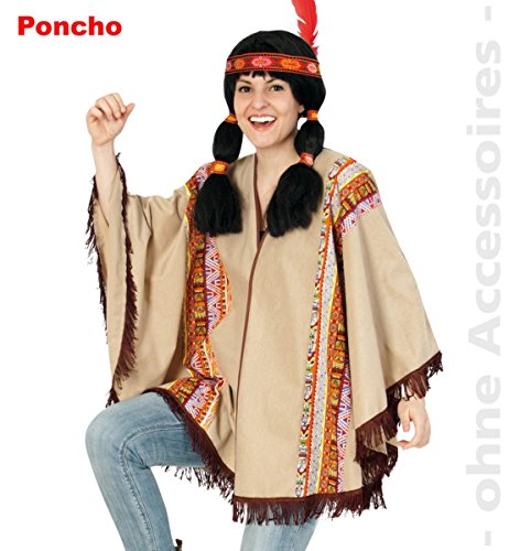 Party-Chic 14670 Kostüm-Indianer-Poncho-OneSize