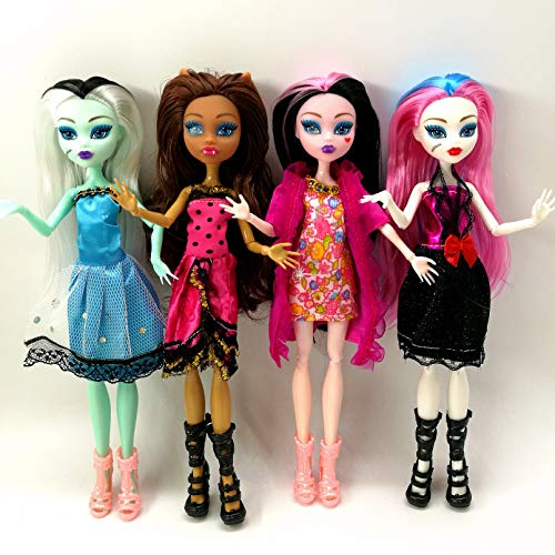 VIOYO 4 unids/Lote Monster Fun High Dolls Monster Draculaura Hight articulación móvil, Mejor Regalo para niños muñecas de Moda al por Mayor