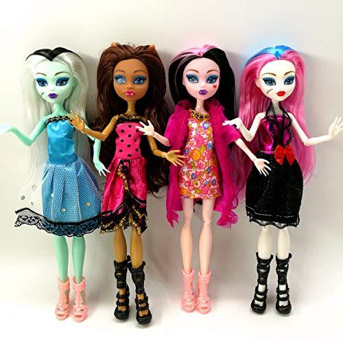 VIOYO 4 unids/Lote Monster Fun High Dolls Monster Draculaura Hight articulación móvil, Mejor Regalo para niños muñecas de Moda al por Mayor