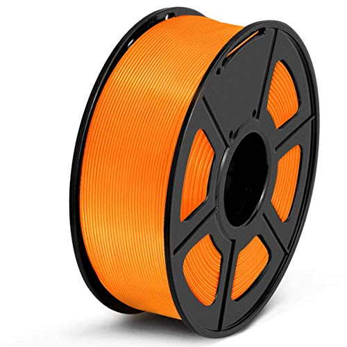 SUNLU Filamento PETG 1.75, Stampante 3D PETG Filamento 1kg Spool Tolleranza del diametro +/- 0,02 mm, PETG Arancione